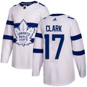 Wholesale Cheap Adidas Maple Leafs #17 Wendel Clark White Authentic 2018 Stadium Series Stitched Youth NHL Jersey