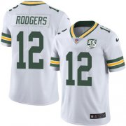 Wholesale Cheap Nike Packers #12 Aaron Rodgers White Youth 100th Season Stitched NFL Vapor Untouchable Limited Jersey