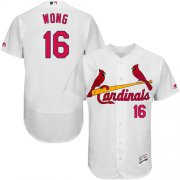 Wholesale Cheap Cardinals #16 Kolten Wong White Flexbase Authentic Collection Stitched MLB Jersey