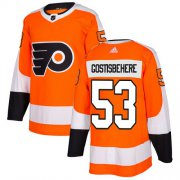 Wholesale Cheap Adidas Flyers #53 Shayne Gostisbehere Orange Home Authentic Stitched NHL Jersey