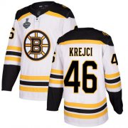 Wholesale Cheap Adidas Bruins #46 David Krejci White Road Authentic Stanley Cup Final Bound Stitched NHL Jersey