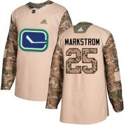 Wholesale Cheap Adidas Canucks #25 Jacob Markstrom Camo Authentic 2017 Veterans Day Stitched NHL Jersey