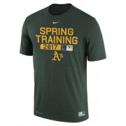 Wholesale Cheap Men's Oakland Athletics Nike Green Authentic Collection Legend Team Issue Performance T-Shirt