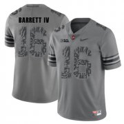 Wholesale Cheap Ohio State Buckeyes 16 J.T. Barrett IV Gray Shadow College Football Jersey