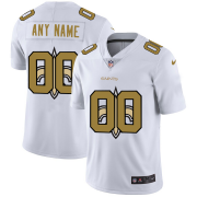 Wholesale Cheap New Orleans Saints Custom White Men's Nike Team Logo Dual Overlap Limited NFL Jersey
