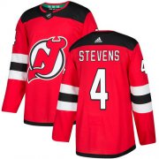 Wholesale Cheap Adidas Devils #4 Scott Stevens Red Home Authentic Stitched NHL Jersey