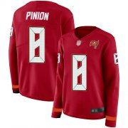Wholesale Cheap Nike Buccaneers #8 Bradley Pinion Red Team Color Women's Stitched NFL Limited Therma Long Sleeve Jersey