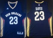 Wholesale Cheap New Orleans Pelicans #23 Anthony Davis Revolution 30 Swingman Navy Blue Jersey