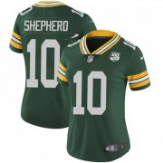 Wholesale Cheap Nike Packers #10 Darrius Shepherd Green Team Color Women's 100th Season Stitched NFL Vapor Untouchable Limited Jersey