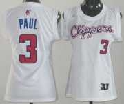 Wholesale Cheap Los Angeles Clippers #3 Chris Paul White Womens Jersey