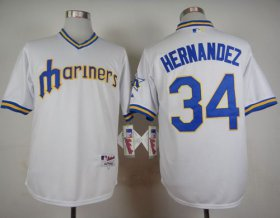 Wholesale Cheap Mariners #34 Felix Hernandez White 1979 Turn Back The Clock Stitched MLB Jersey