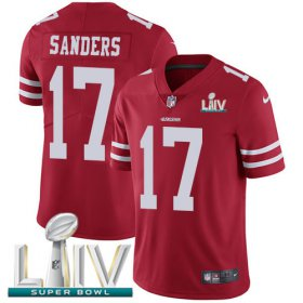 Wholesale Cheap Nike 49ers #17 Emmanuel Sanders Red Super Bowl LIV 2020 Team Color Men\'s Stitched NFL Vapor Untouchable Limited Jersey