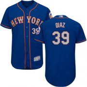 Wholesale Cheap Mets #39 Edwin Diaz Blue(Grey NO.) Flexbase Authentic Collection Stitched MLB Jersey