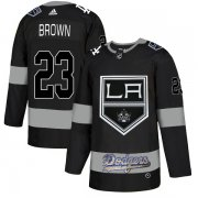 Wholesale Cheap Adidas Kings X Dodgers #23 Dustin Brown Black Authentic City Joint Name Stitched NHL Jersey