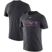 Wholesale Cheap Texas Rangers Nike MLB Practice T-Shirt Anthracite