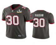 Wholesale Cheap Men's Tampa Bay Buccaneers #30 Ke'Shawn Vaughn Grey 2021 Super Bowl LV Limited Stitched NFL Jersey