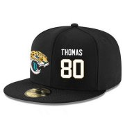 Wholesale Cheap Jacksonville Jaguars #80 Julius Thomas Snapback Cap NFL Player Black with White Number Stitched Hat