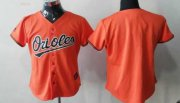 Wholesale Cheap Orioles Blank Orange Women's Fashion Stitched MLB Jersey