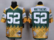 Wholesale Nike Packers #52 Clay Matthews Green Men's Stitched NFL Elite Noble Fashion Jersey