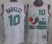 Wholesale Cheap NBA 1996 All-Star #10 Charles Barkley White Swingman Throwback Jersey