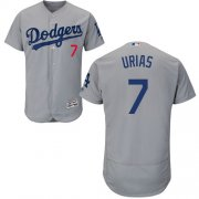 Wholesale Cheap Dodgers #7 Julio Urias Grey Flexbase Authentic Collection Stitched MLB Jersey