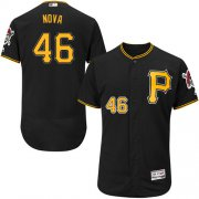 Wholesale Cheap Pirates #46 Ivan Nova Black Flexbase Authentic Collection Stitched MLB Jersey