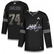 Wholesale Cheap Adidas Capitals #74 John Carlson Black_1 Authentic Classic Stitched NHL Jersey