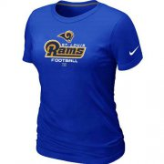 Wholesale Cheap Women's Nike Los Angeles Rams Critical Victory NFL T-Shirt Blue