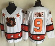 Wholesale Cheap Red Wings #9 Gordie Howe White/Orange All-Star CCM Throwback Stitched NHL Jersey