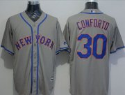 Wholesale Cheap Mets #30 Michael Conforto Grey New Cool Base Stitched MLB Jersey