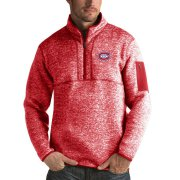 Wholesale Cheap Montreal Canadiens Antigua Fortune Quarter-Zip Pullover Jacket Red