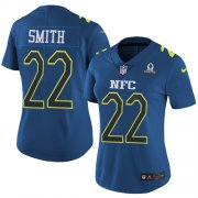 Wholesale Cheap Nike Vikings #22 Harrison Smith Navy Women's Stitched NFL Limited NFC 2017 Pro Bowl Jersey