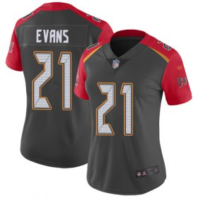 Wholesale Cheap Nike Buccaneers #21 Justin Evans Gray Women\'s Stitched NFL Limited Inverted Legend Jersey