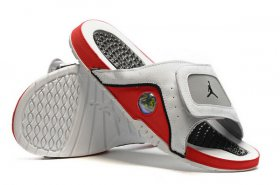 Wholesale Cheap Jordan 13 slipper Shoes White/Red-Grey