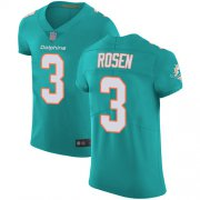 Wholesale Cheap Nike Dolphins #3 Josh Rosen Aqua Green Team Color Men's Stitched NFL Vapor Untouchable Elite Jersey
