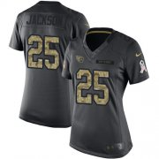 Wholesale Cheap Nike Titans #25 Adoree' Jackson Black Women's Stitched NFL Limited 2016 Salute to Service Jersey