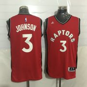 Wholesale Cheap Men's Toronto Raptors #3 James Johnson Red New NBA Rev 30 Swingman Jersey