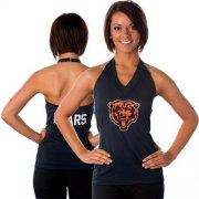 Wholesale Cheap Women's All Sports Couture Chicago Bears Blown Coverage Halter Top
