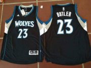 Wholesale Cheap Men's Minnesota Timberwolves #23 Jimmy Butler Black Stitched NBA adidas Revolution 30 Swingman Jersey