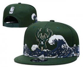 Wholesale Cheap Milwaukee Bucks Snapback Ajustable Cap Hat YD