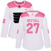 Wholesale Cheap Adidas Flyers #27 Ron Hextall White/Pink Authentic Fashion Women's Stitched NHL Jersey