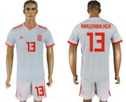 Wholesale Cheap Spain #13 Arrizabalaga Away Soccer Country Jersey
