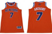 Wholesale Cheap New York Knicks #7 Carmelo Anthony Revolution 30 Swingman 2013 Orange Jersey
