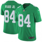 Wholesale Cheap Nike Eagles #84 Greg Ward Jr. Green Men's Stitched NFL Limited Rush Jersey
