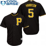 Wholesale Cheap Pirates #5 Josh Harrison Black Cool Base Stitched Youth MLB Jersey