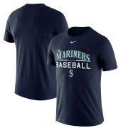 Wholesale Cheap Seattle Mariners Nike Practice Performance T-Shirt Navy