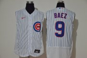 Wholesale Cheap Men's Chicago Cubs #9 Javier Baez White 2020 Cool and Refreshing Sleeveless Fan Stitched Flex Nike Jersey