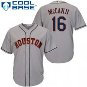 Wholesale Cheap Astros #16 Brian McCann Grey Cool Base Stitched Youth MLB Jersey