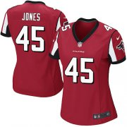 Wholesale Cheap Nike Falcons #45 Deion Jones Red Team Color Women's Stitched NFL Elite Jersey