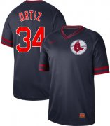 Wholesale Cheap Nike Red Sox #34 David Ortiz Navy Authentic Cooperstown Collection Stitched MLB Jersey